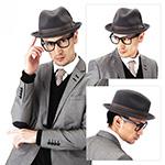 Шляпа BAILEY арт. 7001 TINO (темно-серый)